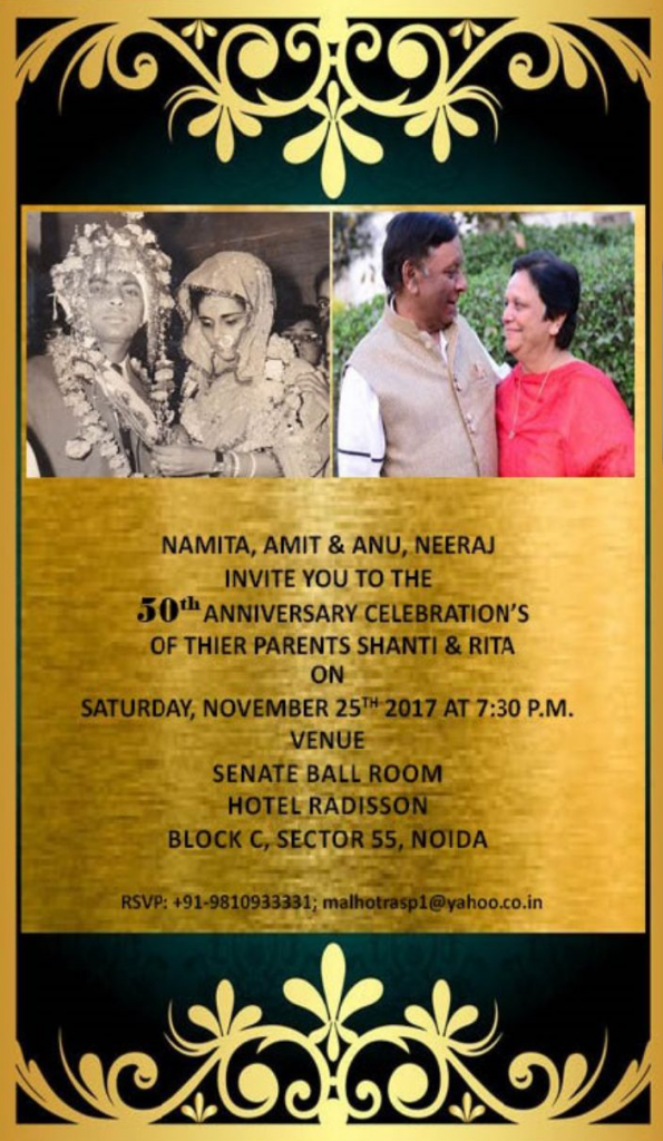 Golden Jubilee Invitation
